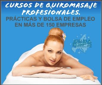 Cursos de masaje en Coruña, Santiago de Compostela, Lugo, Ourense, Pontevedra, Vigo..